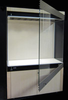 Viewall® Wall standing display case.